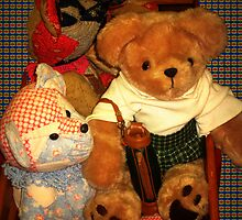 Teddy Riding The wagon by Linda Miller Gesualdo