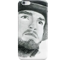 Athos Illustration in black and white iPhone Case/Skin