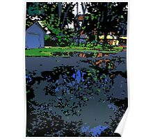 Tree in a Puddle Poster