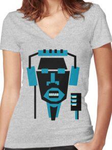singer face  Women's Fitted V-Neck T-Shirt