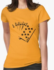 ROYAL FLUSH-2 Womens Fitted T-Shirt