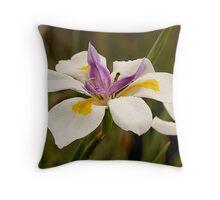African Iris (Dietes grandiflora) Throw Pillow