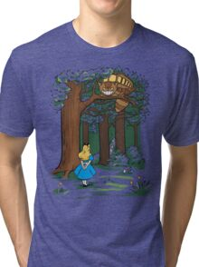 My Neighbor in Wonderland (Kelly Green) Tri-blend T-Shirt