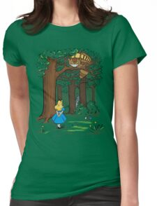 My Neighbor in Wonderland (Kelly Green) Womens Fitted T-Shirt