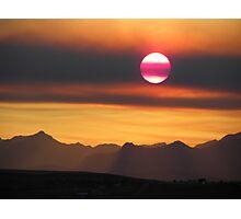 Smokey Summer Sunset  Photographic Print