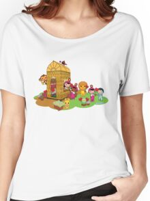 The Dewmuffins bring happiness flowers Women's Relaxed Fit T-Shirt