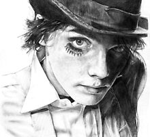 Gerard Way as A Clockwork Orange, pencil by flowoffantasy