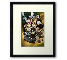 Little Darn Heroes Framed Print