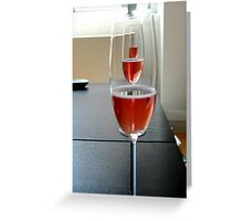 pink champagne Greeting Card