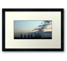 Industrial Landscape in Silhouette Framed Print