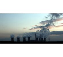Industrial Landscape in Silhouette Photographic Print