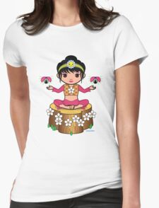 Dewmuffins Ribbon Womens Fitted T-Shirt