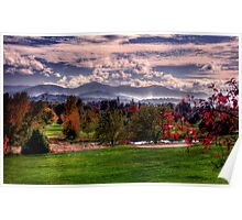 the valley in  fall Poster