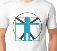 vitruvian man simplified    Unisex T-Shirt