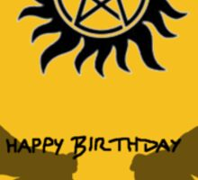 Supernatural Birthday Sticker