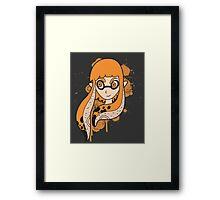 Orange Inkling Girl Framed Print
