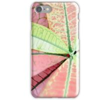 Dreamy Pastel Pink & Green Varigated Leaves Photography iPhone Case/Skin