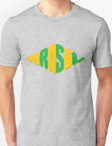 diamond shape Brasil logo Unisex T-Shirt