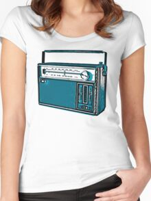 Analogue radio  Women's Fitted Scoop T-Shirt