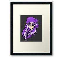 Purple Inkling Girl Framed Print