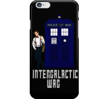 doctor who - INTERGALACTIC WAG (white) iPhone Case/Skin