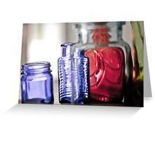 Grainy Bottles Greeting Card