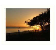 Hervey Bay Sunrise Art Print