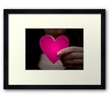 Paper Heart Framed Print