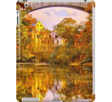 Fall at Upper Falls, Massachusetts. Echo Bridge iPad Case/Skin