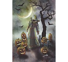 A witchy walk on a misty Halloween. Photographic Print