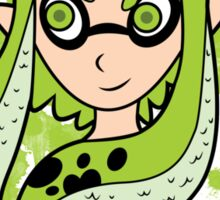 Green Inkling Girl Sticker