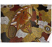 dinawan (Emu) bu Australian Aboriginal artist S Hooper Poster