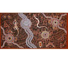 Hunting 080109 by Australian Aboriginal Artist David Williams Photographic Print