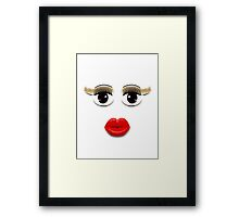 Brown Eyes With Lips Framed Print