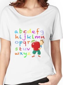 Chalkboard Alphabet Women's Relaxed Fit T-Shirt