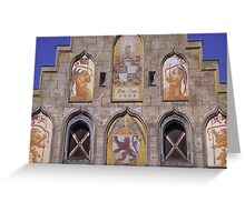 Medieval Facade, 1459 A.C. Greeting Card