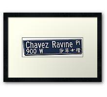 Chavez Ravine Framed Print