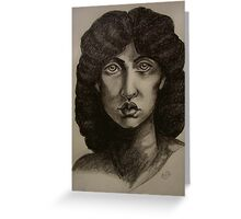 Study of Jane Morris after Rossetti Greeting Card