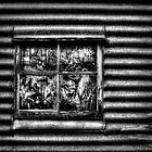 B & W Old Window by Andrew Davoll
