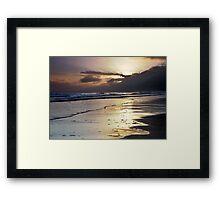 Waves At Dawn Framed Print