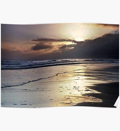 Waves At Dawn Poster