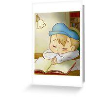 Professor Layton- Sleeping Luke Greeting Card