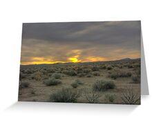 Death Valley  Evening desert Greeting Card