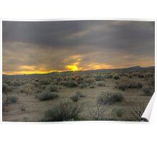 Death Valley  Evening desert Poster