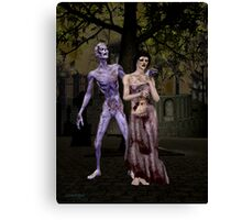 Zombie Hunger Canvas Print