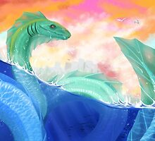 Sea Serpent by owlapin