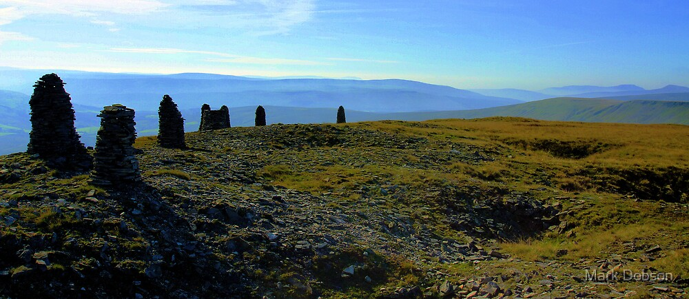Wild Boar Fell Cairns by Mark Dobson