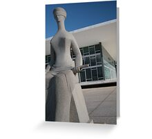 justice brazilian palace and statue Greeting Card