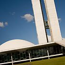 brazilian congress in a blue day sky by momarch