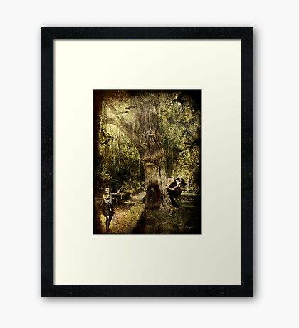 The Old Goat Tree (poetry & music) Framed Print